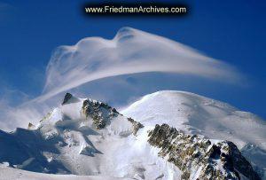 Wispy Cloud over Mt. Blanc