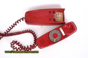 Red Trimline phone